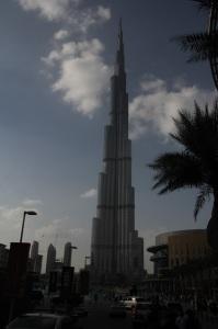 A világ legmagasabb épülete, a Burdzs Kalifa (Kalifa-torony), 2011 december (Fotó: Mészáros Márton)