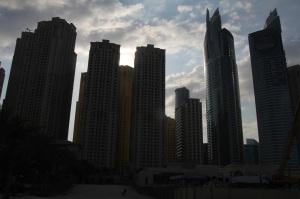 Magas épületek Dubajban, 2011 december (Fotó: Mészáros Márton)