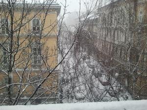 Havazás a budapesti Péterfy Sándor utcában 2012. február 15-én (Fotó: Pécz Dávid)