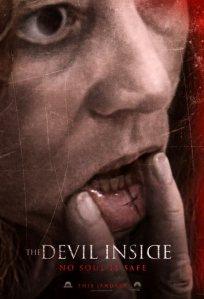 Az ördög benned lakozik (The Devil Inside) című horrofilm plakátja