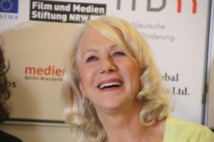 Helen Mirren Oscar-díjas brit színésznő Az ajtó című filmje budapesti bemutatóján 2012. március 7-én (Fotó: Mészáros Márton)