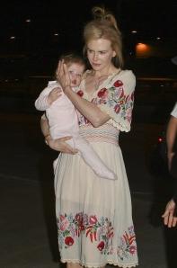 Nicole Kidman Oscar-díjas ausztrál színésznő a Los Angelesi Nemzetközi Repülőtéren 2012. március 14-én