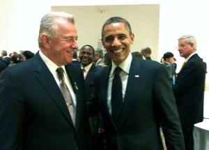 chmitt Pál magyar államfő és Barack Obama amerikai elnök a nukleáris biztonsági csúcsértekezleten Szöulban 2012. március 27-én