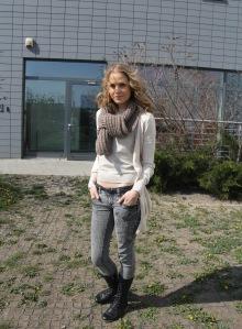 Nagy Alexandra színésznő, a Barátok közt című sorozat szereplője Budapesten 2012. április 3-án (Fotó: Mészáros Márton)