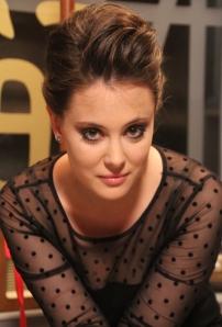 Valentin Titánia színésznő a Marslakók című sorozat forgatásán, a Raleigh Stúdióban 2012. április 5-én (Fotó: Mészáros Márton)