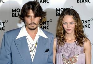 Johnny Depp amerikai színész és élettársa, Vanessa Paradis francia színésznő