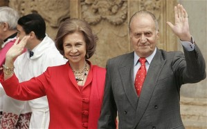 I. János Károly spanyol király és neje, Zsófia spanyol királyné