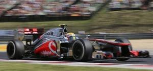Lewis Hamilton, a McLaren brit pilótája a 27. Forma-1-es Magyar Nagydíjon a mogyoródi Hungaroringen 2012. július 29-én