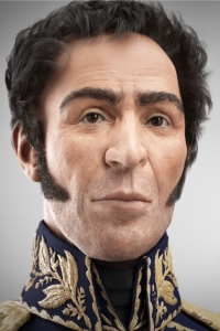 Simón Bolívár venezuelai államférfi, szabadságharcos digitális arcképe, amelyet 2012. július 24-én avattak fel