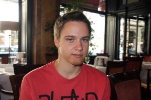 A 16 éves Vásárhelyi Dávid, a világ legfiatalabb hírportál tulajdonosa Budapesten 2012. augusztus 20-án (Fotó: Mészáros Márton)
