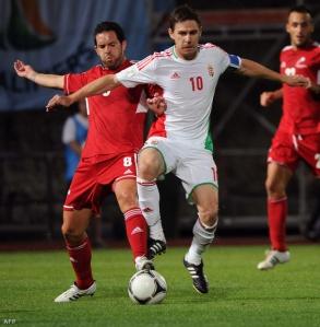 Gera Zoltán a 2014-es labdarúgó-világbajnokság D-csoportjának Andorra – Magyarország selejtező mérkőzésén az Andorra La Vellában  2012. szeptember 7-én