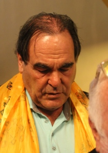 Oliver Stone Oscar-díjas amerikai rendező, forgatókönyvíró a budapesti Puskin moziban 2012. szeptember 21-én (Fotó: Mészáros Márton)