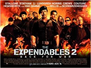 A feláldozhatók 2 (Expendables 2) című film plakátja