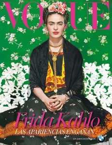 Frida Kahlo mexikói festőnő (1907-1954) a Vogue divatmagazin mexikói kiadásának 2012. novemberi címlapján