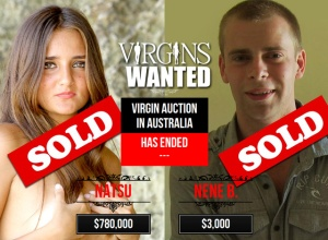 Catarina Migliorini és az ausztrál fiatalember, akik árverésre bocsátották szüzességüket