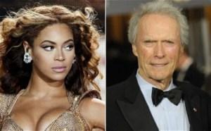 Beyoncé amerikai énekesnő és Clint Eastwood amerikai színész-rendező