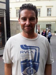 Charley Jonhson, a Pay It Forward mozgalom vezetője Budapesten 2012. október 19-én (Fotó: Mészáros Márton)