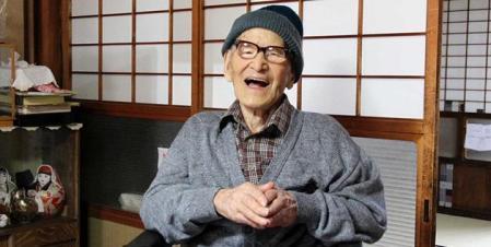 Kimura Dzsirumon, a világ legidősebb embere Japánban található  Kjotangóban lévő otthonában 2012. december 15-én