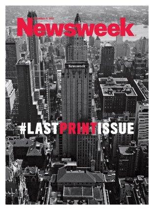 A Newsweek amerikai hírmagazin utolsó nyomtatott száma