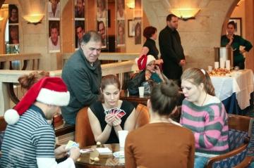 Gáspár Sándor, Martinovics Dorina, Mészáros Piroska színművészek a Nemzeti Színház Kiskarácsony programján 2012. december 11-én