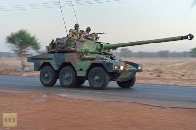Francia katonák az afrikai Maliban a 2013. január 11-én kezdett katonai művelet során