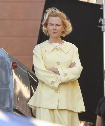 Nicole Kidman a Grace of Monaco forgatásán a franciaországi Mentonban 2012. október 9-én