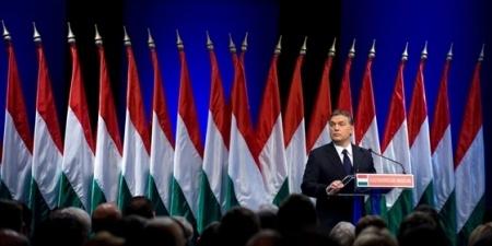 Orbán Viktor miniszterelnök évértékelő beszédet mond a budapesti Millenáris Parkban 2013. február 22-én