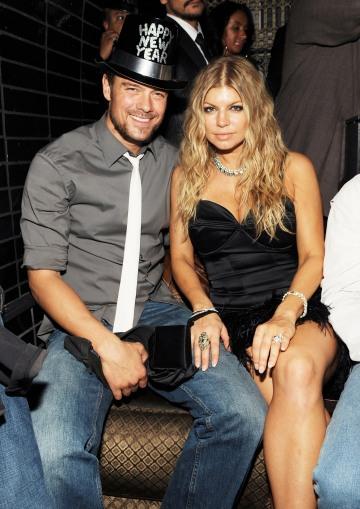Josh Duhamel amerikai színész és felesége, Fergie amerikai énekesnő egy Las Vegas-i kaszinóban, 2008. december 31-én készült felvételen
