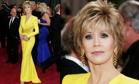 Jane Fonda amerikai színésznő a 85. alkalommal megrendezett Oscar-díjkiosztó gálán a Los Angelesben 2013. február 24-én