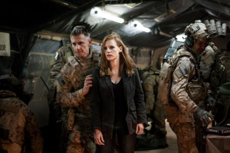 Jessica Chastain amerikai színésznő a Zero Dark Thirty című film egyik jelenetében