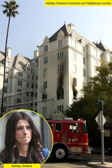 Ashley Greene amerikai színésznő kiégett hollywoodi lakása