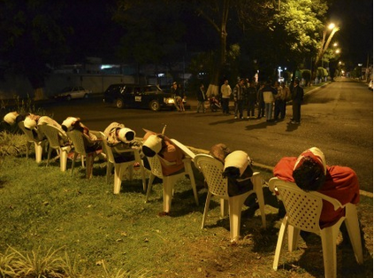 Hét fejbe lőtt bűnöző a mexikói Uruapan városában 2013. március 23-án