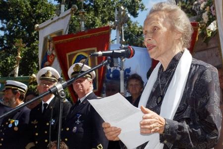 Horthy Istvánné Edelsheim-Gyulai Ilona (1918-2013), a néhai kormányzó-helyettes felesége