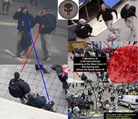 Gyanús alakok a bostoni maraton helyszínén a robbantás előtt 2013. április 14-én