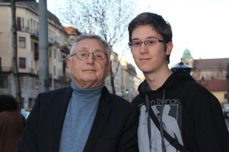 Jiri Menzel Oscar-díjas cseh filmrendezővel Budapesten 2013. április 13-án