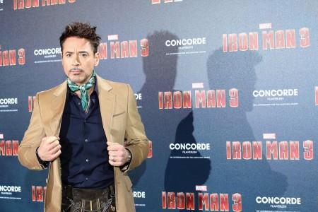 Robert Downey Jr. a Vasember 3 (Iron Man 3) című filmje müncheni bemutatóján 2013. április 12-én