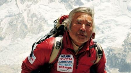 Miura Juicsiro (Yuichiro Miura), a legidősebb személy, aki valaha megmászta a Mount Everestet