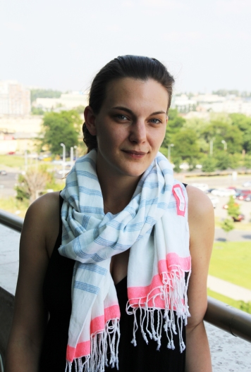 Radnay Csilla színésznő a Nemzeti Színházban 2013. június 21-én (Fotó: Mészáros Márton)
