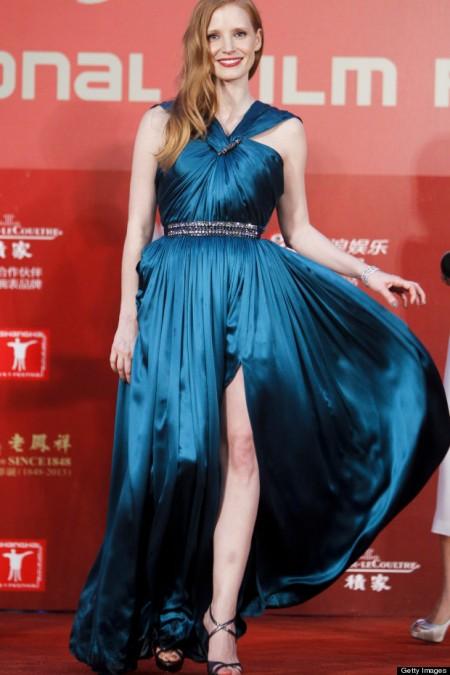 Jessica Chastain amerikai színésznő a Shanghai Nemzetközi Filmfesztiválon 2013. június 23-án