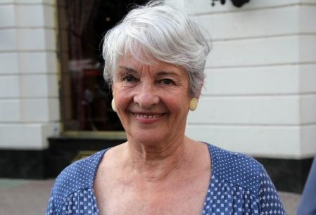 gróf Nádasdy Borbála írónő, korábban balettmester, színésznő a 84. Ünnepi Könyvhéten Budapesten 2013. június 9-én (Fotó: Mészáros Márton)