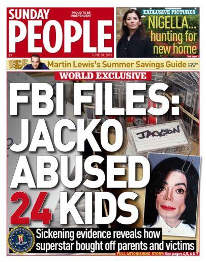 A Sunday People amerikai lap 2013. június 30-i címlapja