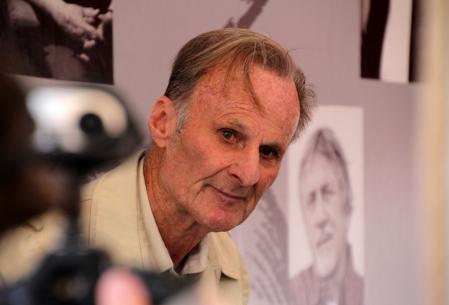 Hubert Géza Wells, hollywoodi magyar állatidomár a 84. Ünnepi Könyvhéten Budapesten 2013. június 9-én (Fotó: Mészáros Márton)