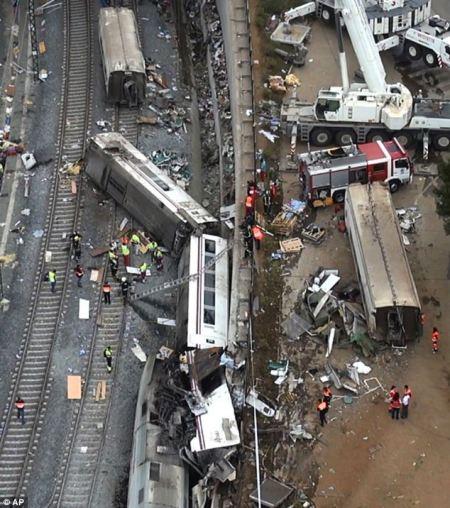 Vonatbaleset Galicia fővárosa, Santiago de Compostela mellett 2013. július 25-én