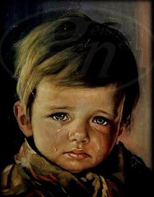 Síró kisfiú (illusztráció)