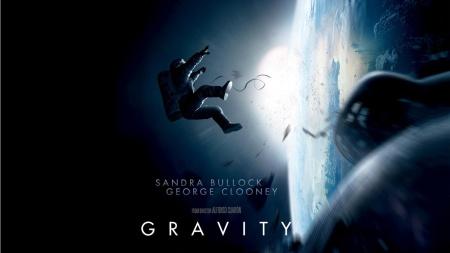 Alfonso Cuarón Gravitáció (Gravity) című filmjének plakátja