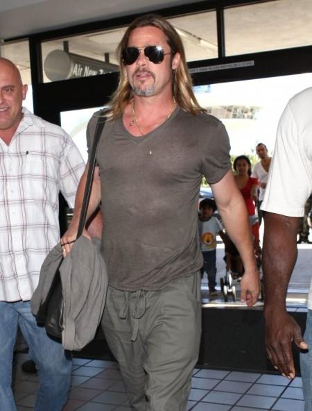 Brad Pitt amerikai színész a Los Angeles-i Repülőtéren 2013. július 21-én