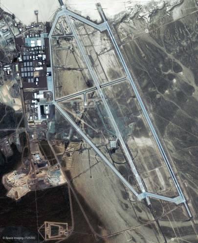 Légifelvétel a nevadai 51-es körzetről