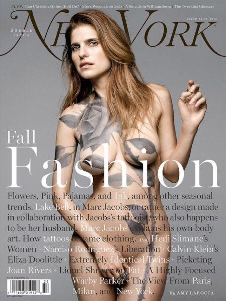 Lake Bell amerikai színésznő az amerikai New York magazin címlapján