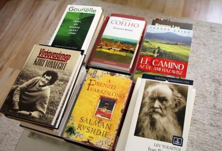 Az elmúlt időben vásárolt könyveim közül néhány (Fotó: Mészáros Márton, 2013.08.17)