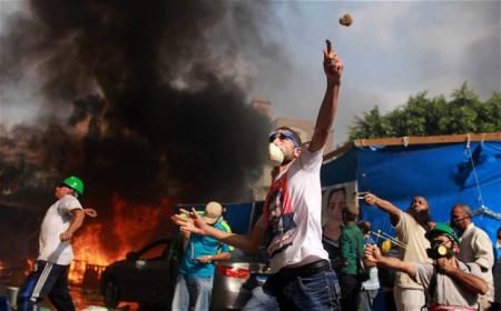 Kairói tüntetők 2013. augusztus 15-én
